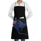 Unisex Kitchen Aprons Australian Flag Kangaroo Chef Apron Cooking Apron Barbecue Aprons