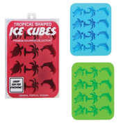 Silicone Ice Cube Trays 3 Piece Set - Tropical Shaped Ice Cube Tray Moulds Candy Mould Cake Mould Chocolate Mould