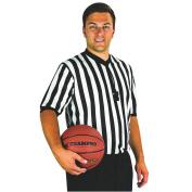 New Champro Basketball Referee Official Dri-Gear Black White Jersey Shirt XS-3XL