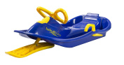 Lucky Bums Plastic Racer Sled, 100cm , Blue/Yellow