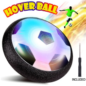 Kids Toys,Huicocy Hover Ball Air Power Soccer Disc,Hover Soccer Football with Powerful LED light and Foam Bumpers for Indoor Games,Kids Toys,Boy and Girl Gifts