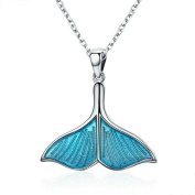 Sterling Silver Necklace Whale Tail Pendant Jewellery