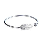 Silver-plating Angel Feather Bracelet Adjustable Open Cuff Bangle Women Jewellery