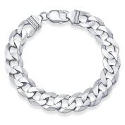 Bracelet, curb chain silver 925 Curb 13 mm