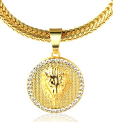 "Halukakah ""KINGS LANDING"" 18k Real Gold Plated Lion Pendant Necklace,with FREE SharkTail Chain 80cm"