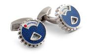 Tateossian Men Brass Blue Cufflinks CL7331