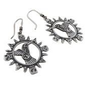 Hummingbird 925 Silver Hoop Earrings