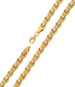 Women's Bracelet Chain Bracelet 19 cm x 6 mm 585 Gold 14 Karat