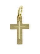Pendant Cross Diamond Cut from 333 gold