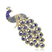 FOLOBE Artificial Zircon Peacock Pin Corsage Jewellery Brooch Bouquet Women Crystal Flower Brooch