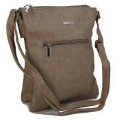 Stefano Women's Shoulder Bag Black M1 taupe Maße ca. 23 x 27 x 3 cm