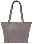 Rowallan Women's Leather Shoulder Bag, Taupe