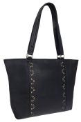 Rowallan Women's Leather Shoulder Bag, Black