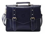 ECOSUSI Women 37cm Briefcase Laptop Messenger Bag School Satchel Large Shoulder Bag Blue