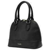 Kadell Women's Top Handle Vintage Style Shell Handbag Shoulder Bag Purse Satchel Black