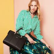 Kadell Women Luxury Leather Designer Handbags Top Handle Purse for Ladies Shoulder Bag Black