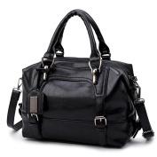 YIMOJI Women Handbag Top Handle Soft PU Leather Designer Ladies Shoulder Bag Comes With Detachable Cross-body Strap