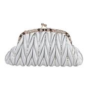 Bonjanvye Kiss Lock Sequins Crystal Pu Leather Bags for Women Purses and Handbags