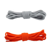 Round Shoelaces - Extra Durable - For Shoes and Boots Shoelaces 2 Pair Pack,B