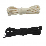Round Shoelaces - Extra Durable - For Shoes and Boots Shoelaces 2 Pair Pack,F