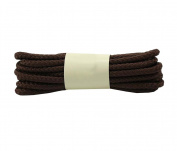 Round Waxed Dress Shoes Shoelaces Boots Shoe Laces (1 Pair) - Coffee