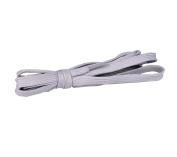 Flat Shoelaces [1 Pairs] Thick - For Shoes, Sneakers & Boots - Grey