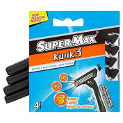 Super-Max Kwik3 4 Razors for Men