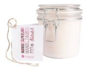 Deluxe 3 in 1 Creamy Oil Peeling Mandelzauber (500g), 100% natural Body Peeling with Almond Oil, intensively moisturising Body Scrub for dry skin in elegant PET storage jar
