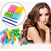 18 Pcs Magic Hair Curler Rollers and 2 Hooks Pcs Hair Roller British Style Buckle – 301
