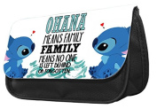 Hiros®Ohana Means Family Lilo And Stitch themed Pencil Case-make up case,back to school gift,Gift for child,Travel Wash Bag,Cosmetics Pouch Organiser Toiletry Purse Pencil Case Wallet.Christmas custom Gift case.
