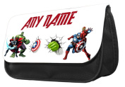 Hiros®Personalised Pencil Case-Avengers themed pencil case..make up case,back to school gift,Gift for child,Travel Wash Bag,Cosmetics Pouch Organiser Toiletry Purse Pencil Case Wallet.Christmas custom Gift case.