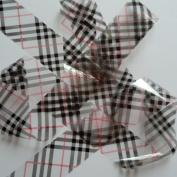 CLEAR BLACK BIG TARTAN Clear Nail Art Foil Decoration Wrap Transfer