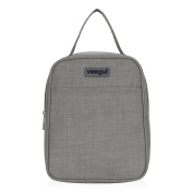 Veegul Recycle Cooler Insulated Lunch bag for Women Men Kids Grey
