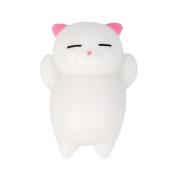 Cute Mochi Squishy Cat Squeeze Healing Fun Kids Kawaii Toy Stress Reliever Decor
