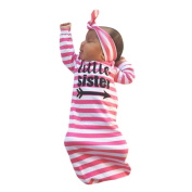 Baby Clothing Sets, MML 2Pcs Newborn Baby Swaddle Letter Stripe Pyjamas Gown Outfits
