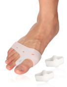 Toe Separators hammer bunion straightener - Big Toe Spacers for relief bunion pain for Men & Women by Toe Glow