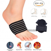 4PCS OF Cushioned Insole Wraps for Flat Feet and Plantar Fasciitis BY PEDIMEND™   Arch Support Shoes Insert   Reduces Cramps & Stiffness   For Weak / Fallen Arches   UNISEX   Foot Care