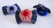 Pack of 4 Hair Ponios with Bow Jeans in Two Colours. . 72H