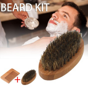 Vin beauty Beard Brush and Beard Comb kit for Men Grooming With Handmade Wooden Comb Set for Men New