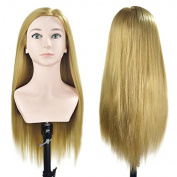 70cm - 70cm Mannequin Head For Hairdresser Manikin Hairdressing Dummy Doll Heads Synthetic Hair Styling Training Head