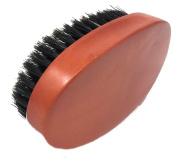Military Black Boar Bristle Hardwood Hairbrush