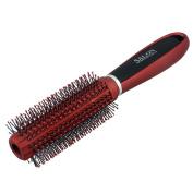 TOOGOO Red Black Plastic Anti-Slip Round Hair Brush Wave Hair Comb 9 inchLong