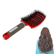 ROKOO Hair Scalp Massage Comb Bristle Nylon Hairs Brush Salon Hairdressing Styling Tools Women Wet Curly Detangle Hairbrush