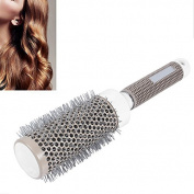 Hongchen 53mm Large Resin Ceramic Iron Round Comb Salon Styling Tools For Daily Nano Round Brush , Anti Static Thermal Round Brush Hair Dressing