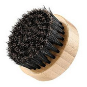 HENGSONG Round Beard Brush with Soft Boar Bristle Hair for Help Softening and Conditioning Itchy Beards For Men