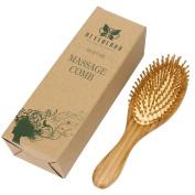Neverland Beauty Wooden Hair Brush Anti Static Detangling Massage Bristle Cushioned Organic Handmade Comb with Giftbox