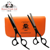 BeautyTrack - 14cm Hair Cutting Scissors set Hairdressing Salon Professional cutting and thinning Scissors For Barber + Presentation Case