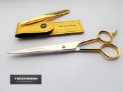 TWEZERMENN MENS Barber scissors 6cm / slanted tweezers Set