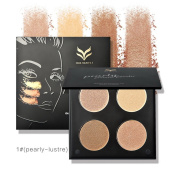 MeineBeauty 4 Colours Shimmer Highlighter Makeup Palette Contour Concealer Palette Pearly Lustre