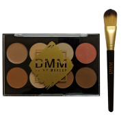 DMM Contour Collection Makeup Palette Concealer Highlighter Blush Bronzer with Brush
